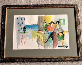 Itzchak TARKAY: Works On Paper, Hardcover, Signed Numbered, With 4 Original Lithos Framed Dust Cover 1993//Vintage Collectibles//Vintage Art