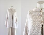 c1960's Oatmeal Knit Cape
