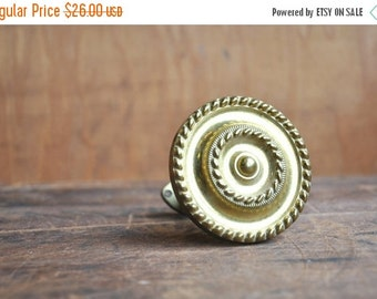 ON SALE 40% OFF Vintage Brass Curtain Tie Back E2101