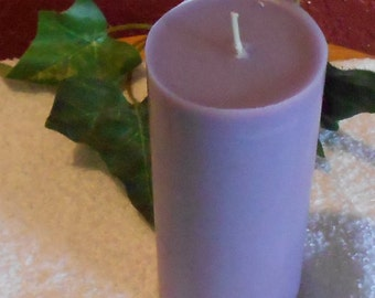One, Bayberry Scented Pillar Candle, Soy, Bayberry Green, Centerpiece, Wedding, Anniversary