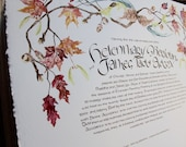 Bespoke Botanical Quaker Wedding Certificate