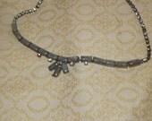 Vintage Rhinestone - Smokey Stone - Necklace