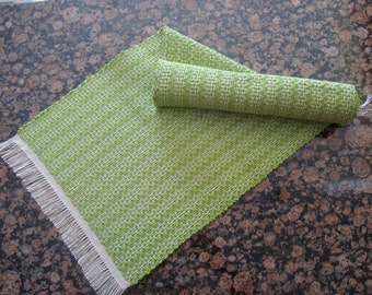 Handwoven Table Runner - Lime Green