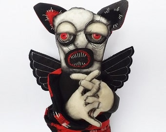 Horror Doll Gothic Horror Bat Halloween Creature Gothic Doll Monster Doll Art Doll