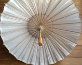 SALE Wedding Parasol - Just Married, Wedding Photo Prop, Just Married Parasol, DIY Paper Parasol, Beach Wedding Umbrella