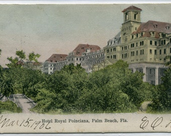 Royal Poinciana Hotel Palm Beach Florida 1906 postcard