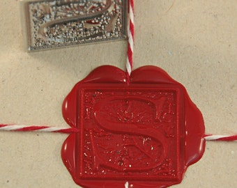 Ornamental Initial Wax Seal Stamp