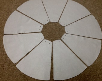 NP10EW. Package of 9 Dove Gray Leather Cowhide Triangles