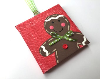 Handpainted and Personalized Gingergbread Boy Ornament