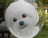 Bichon Frise Wine Glass ~ Pet Lover ~ Dog Wine Glass ~ Birthday Gift ~ Gifts Under 50 ~ February Birthday