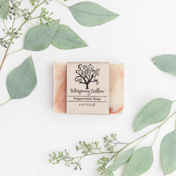 Peppermint Bar Soap - Handcrafted, Vegan