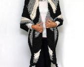 "Crochet PATTERN Oversized Wrap | Chunky Triangle Shawl | Super Scarf | Made in Canada | ""Hanka Triangle Wrap"""