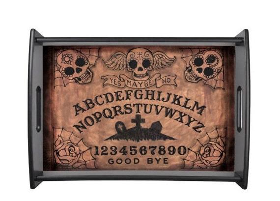Sugar Skull Ouija Board Serving tray