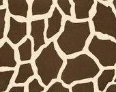 "CLEARANCE SALE GIRAFFE Print fabric-Brown/Natural Premier Prints 100% cotton Fabric by the yard-54"" wide-1 yard"