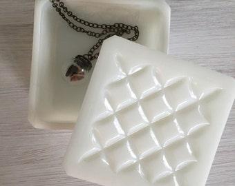 Vintage milk glass trinket box