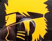 Naruto face vinyl decal sticker