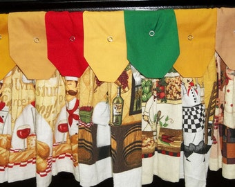 Hanging Kitchen Towels -  Chefs and More Chefs 2