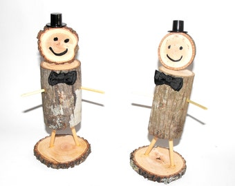 Groom and Groom cake topper ~ Stick People Cake Topper ~ Rustic Cake topper ~ Mr Mr Cake Topper ~ Rustic stick people ~ Woodland wedding