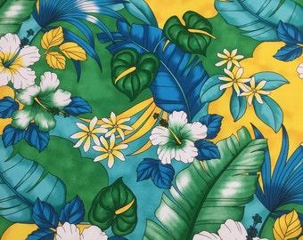 New Listing,  Cotton Hawaiian Print   (Yardage Available)