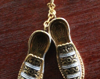 Spanish Damascene Slippers Pin