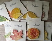 Fall Tree Table Names Wedding -  Table Numbers- Table tents- Event signs- Tree Named Tables