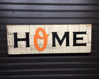Baltimore Orioles HOME plaque, sign
