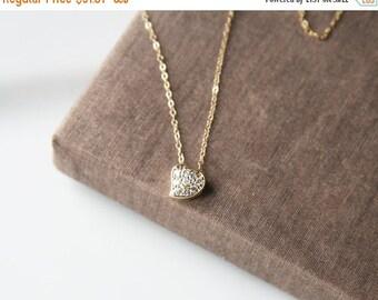 Gold Necklace,Heart Necklace,Tiny Heart Necklace,Dainty Jewelry,Delicate Necklace,Wedding Jewelry