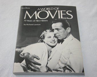 Vintage A World Of Movies Large Soft Cover Book 1974 by Richard Lawton