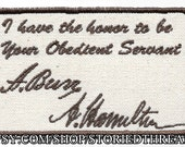 Hamilton and Burr Signatures Patch