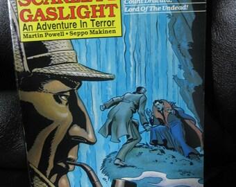 Vintage Sherlock Holmes Comic Book, Scarlet in Gaslight, Sherlock Holmes Vs. Count Dracula