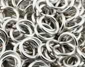 15% off Everything JUMP RINGS -  20g (AWG) Silver Non-Tarnish Enameled Copper Jumprings - 1 Ounce - Pick your size!