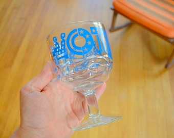 vintage election vote beer glass / vintage bar glass / barware