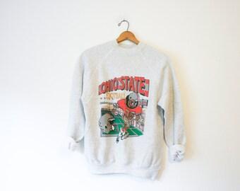Vintage Gray Ohio State Buckeyes Sweatshirt