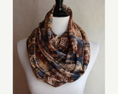 50% End Of Season Sale Infinity Scarf in Floral / Paisley Design- Limited Edition - Ready To Ship - Gift under 20