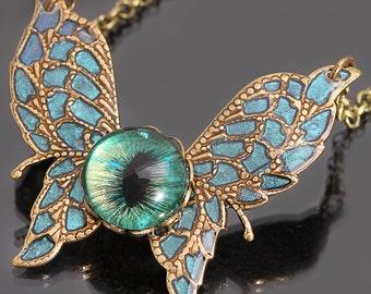 Butterfly Necklace Evil Eye Necklace Butterfly Pendant