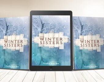 """Premade eBook & Print Book Cover Design Package """"The Winter Sisters"""" Literary Fiction Novel Romance Love Young New Adult YA"""