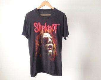 vintage SLIPKNOT nu metal band tour ozzfest vintage mid 90s marilyn manson style band shirt
