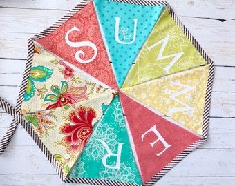 Summer Banner - Fabric Summer Bunting