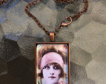 If And Only If Boho  Pendant Necklace On Etsy Lady Necklace Burlesque Jewelry Alteredhead On Etsy Flapper Jewelry Popular Themed Necklaces