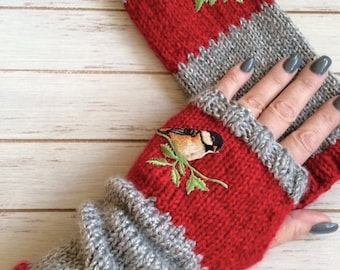 Hand Knit Fingerless Mitts - Perfect for Gift Giving or For Yourself - Custom Order Only