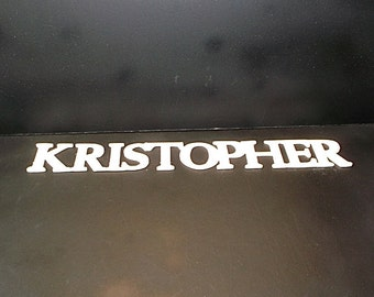 Name Sign 2 in . High x 1/8 or 1/4in. Thk10 Letters Unfinished  Wood Style 1 Stk No. N-1-.1825 -2-10