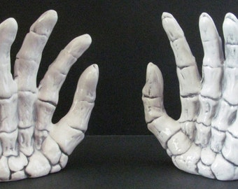 Ceramic Skeleton Hands