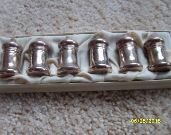 Vintage Sterling Silver Salt and Pepper Shaker Set (6), Sterling Utensils