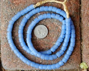 African Sand Cast Beads -Light Blue