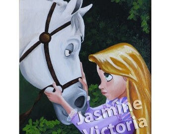 Rapunzel and Maximus Print (3 sizes available)