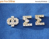 ON SALE 10% off Phi Sigma Sigma  Rhinestone greek letter letters sorority slide charms for hair Ties or 8mm bracelet