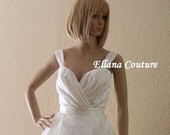 READY to SHIP. Emily - Retro Style Tea Length Wedding Dress.