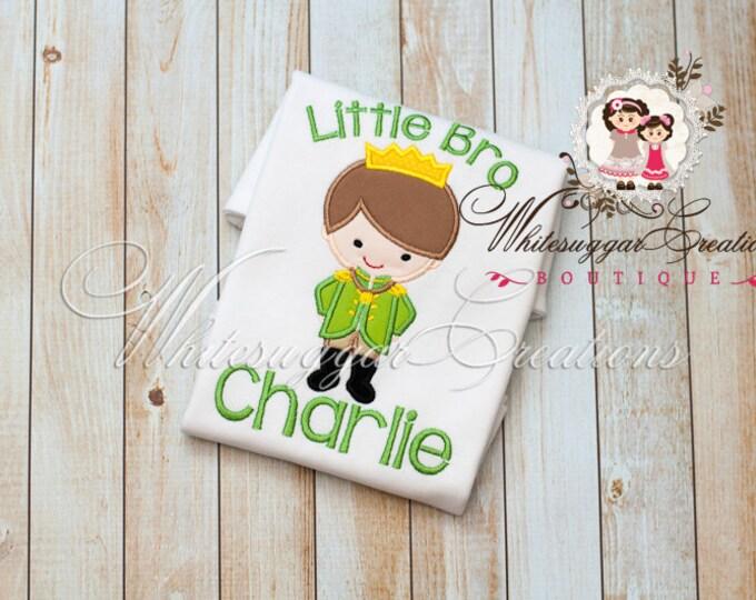Little Brother, Big Brother Prince Shirt - Baby Custom Shirt - Prince Baby Brother