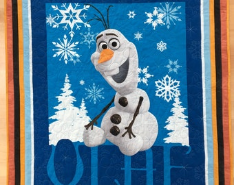 "Olaf Quilt Kit - Disney's Frozen Olaf Complete Quilt Kit (Includes Backing) - 38"" x 49"" Wall or Lap Quilt"