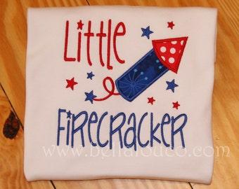 Little Firecracker Applique Shirt